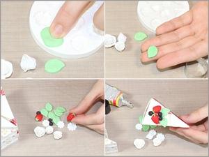 3 bước đơn giản gấp hộp quà hình bánh gato xinh xắn 6