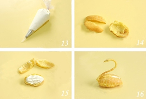 Cách làm bánh su kem hình thiên nga cực xinh 6