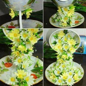 Mách bạn cách cắm hoa đẹp và độc đáo cho bàn tiệc 5