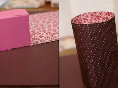 Cách làm hộp đựng quà kiêm túi giấy 2 trong 1 8
