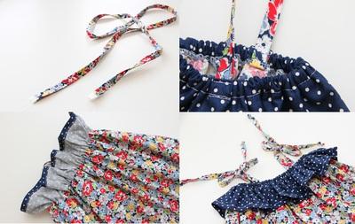 Tự may váy cột dây và jumpsuit dễ thương cho bé 12