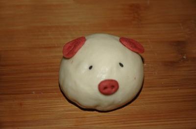Làm bánh bao ngọt hình chú heo con siêu dễ thương 16