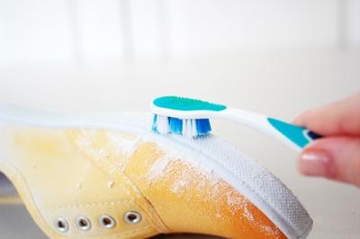 Tự nhuộm giày vải màu loang sành điệu, độc đáo 12