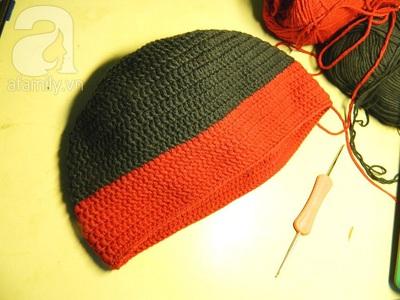 Hướng dẫn móc mũ len đơn giản mà dễ thương 11