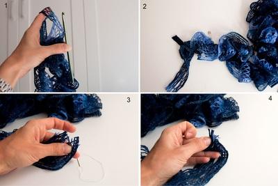 Hướng dẫn móc khăn len siêu tốc mà đẹp mắt 12