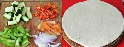 Trổ tài tự làm pizza rau củ thơm ngon ít béo 8