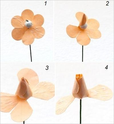 Hướng dẫn làm hoa hồng giấy đơn giản mà đẹp mắt 6