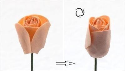 Hướng dẫn làm hoa hồng giấy đơn giản mà đẹp mắt 8