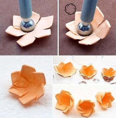 Hướng dẫn làm hoa hồng giấy đơn giản mà đẹp mắt 10