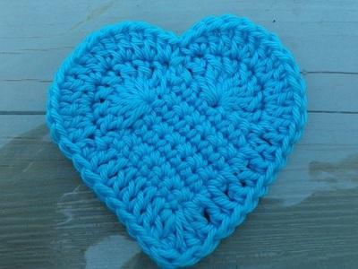 Hướng dẫn móc len hình trái tim siêu xinh mà dễ dàng 12