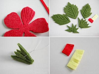 Trang trí khung tranh với nhành hoa đỏ bắt mắt 7