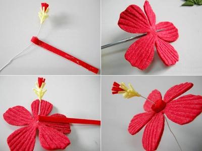 Trang trí khung tranh với nhành hoa đỏ bắt mắt 11