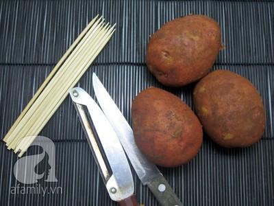 Cách làm khoai tây lốc xoáy giòn ngon đúng điệu 2