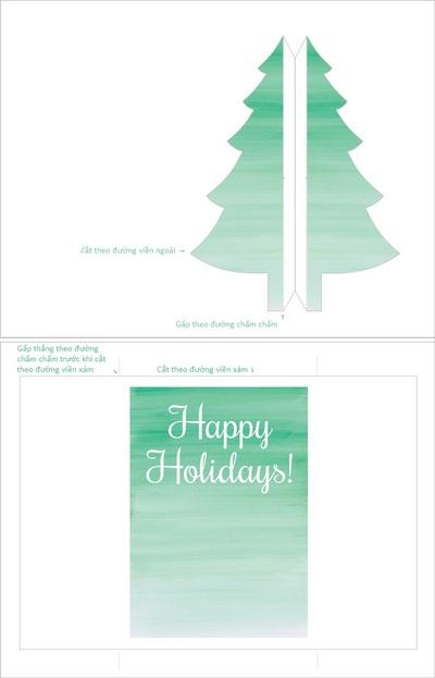 Cách làm thiệp Noel kiêm phong thư tuyệt đẹp 3