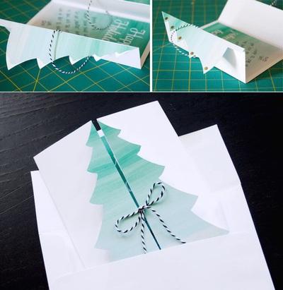 Cách làm thiệp Noel kiêm phong thư tuyệt đẹp 12