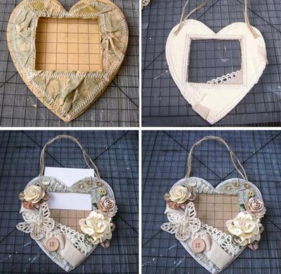 Tự chế khung ảnh trái tim lãng mạn 12