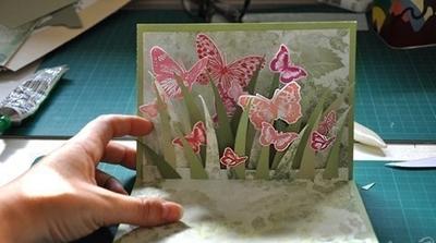 Khéo tay tự làm thiệp 3D đàn bướm xinh tung tăng 13