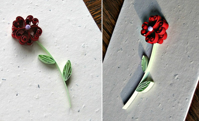 Tự làm thiệp hoa giấy xoắn nhỏ xinh đáng yêu 11