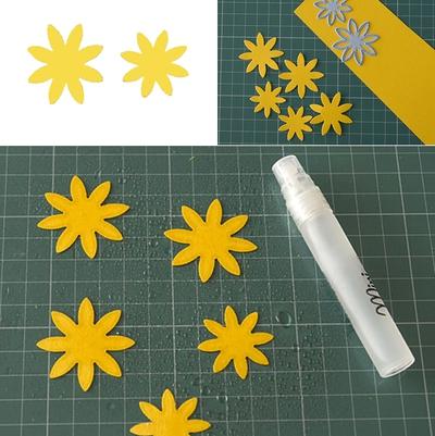 Cách làm hoa hướng dương trang trí thiệp đáng yêu 5
