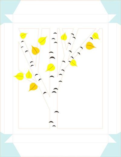 Chào thu với tranh 3D lá vàng rơi thật lãng mạn 3