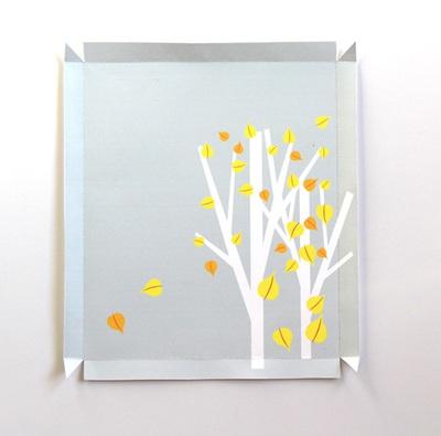Chào thu với tranh 3D lá vàng rơi thật lãng mạn 10