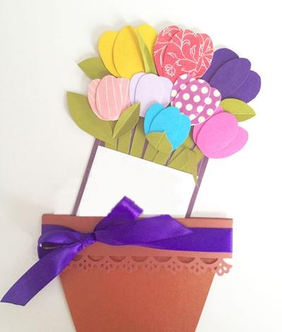 Tự chế thiệp hoa tulip rực rỡ sắc màu siêu xinh 12