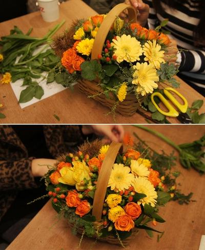 Cắm hoa sắc vàng cam trang trí nhà đầy sức sống 13