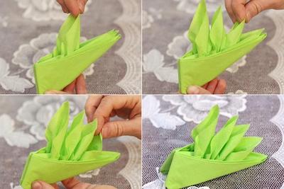 Cách gấp khăn ăn hình chiếc thuyền đẹp mắt 13