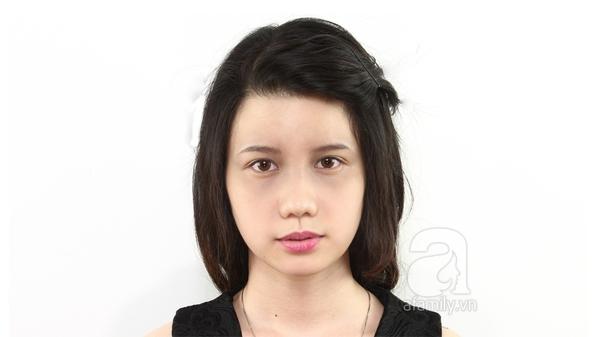 Che khuyết điểm mặt to chỉ với lớp trang điểm nhẹ và kiểu tóc 1
