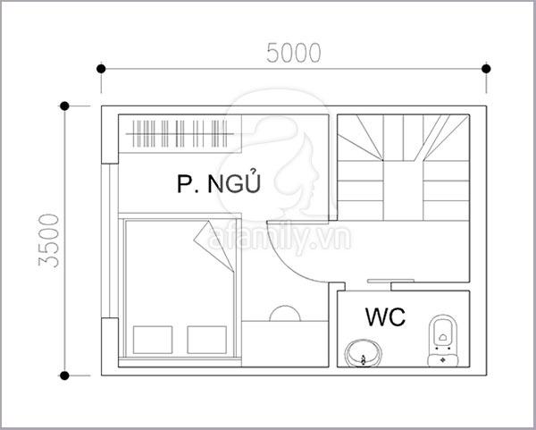Thiết kế khoa học cho nhà diện tích nhỏ 17 mét vuông 2