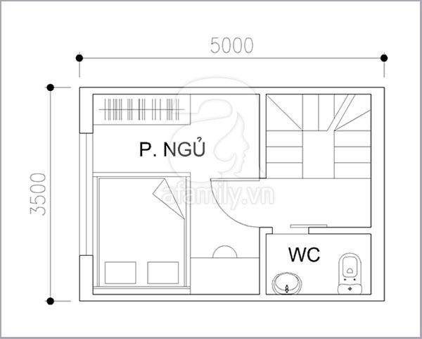 Thiết kế khoa học cho nhà diện tích nhỏ 17 mét vuông 3