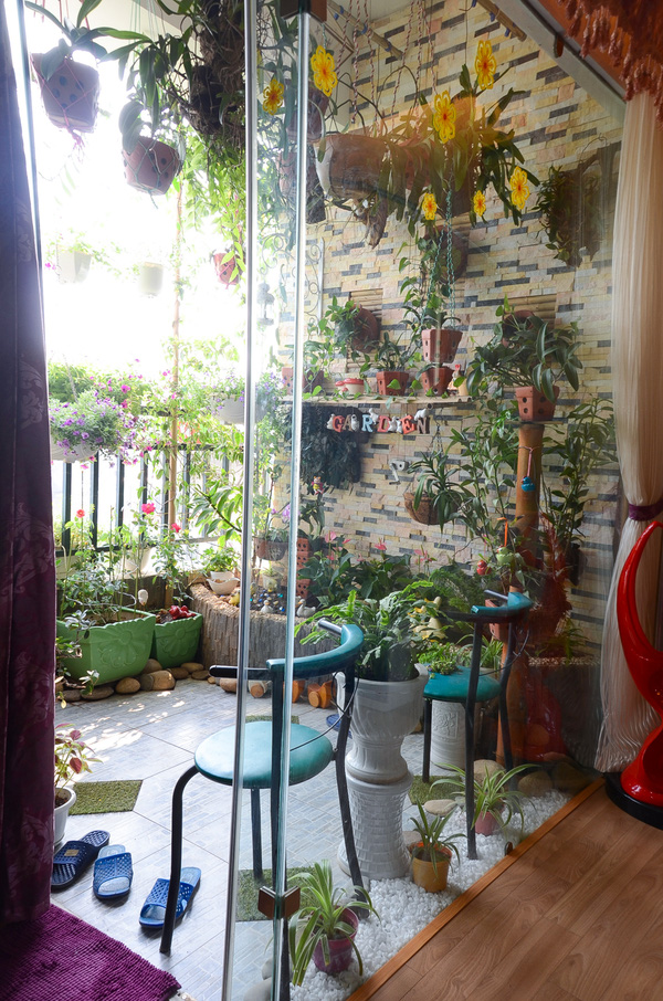 Ngắm căn hộ có góc vườn truyền cảm hứng cho cả khu chung cư ở Hà Nội 4