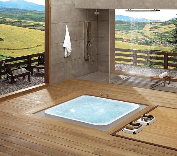 Những thiết kế bồn tắm sục nhìn là mê 3