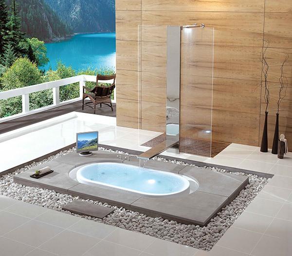 Những thiết kế bồn tắm sục nhìn là mê 4