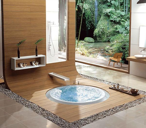 Những thiết kế bồn tắm sục nhìn là mê 5