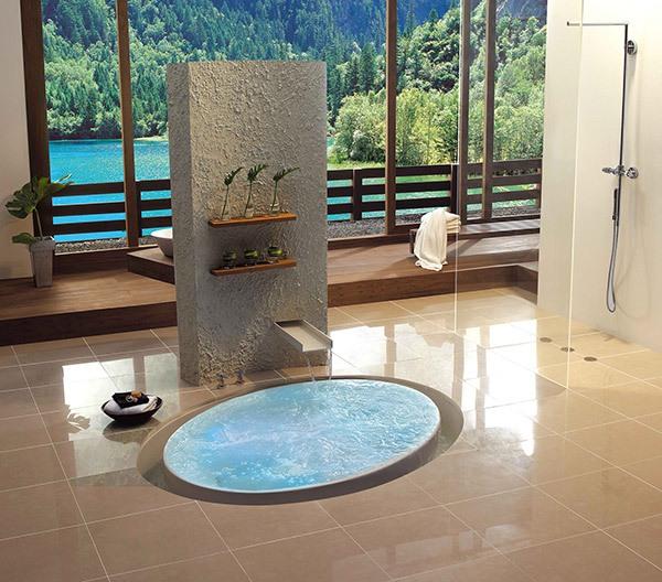 Những thiết kế bồn tắm sục nhìn là mê 6