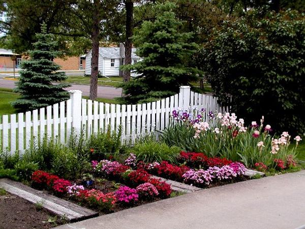 Những mẫu hàng rào hoa cực đẹp và tinh tế