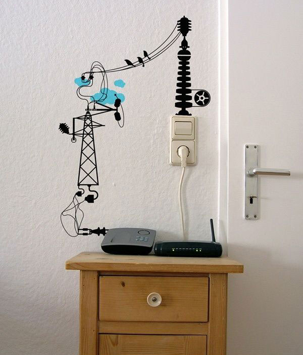 """15 ý tưởng """"phù phép"""" dây điện thành tác phẩm nghệ thuật độc đáo 14"""