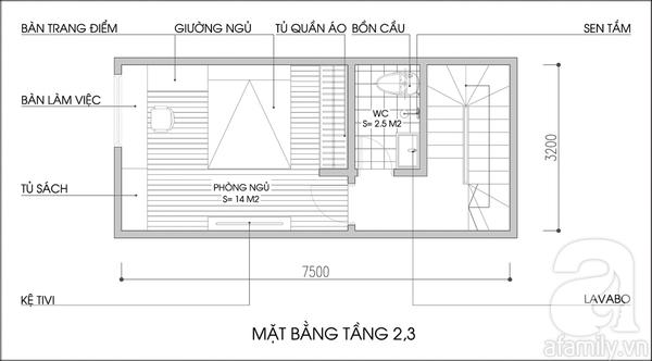 Tư vấn cải tạo và bố trí nội thất cho nhà lô có diện tích rộng 24m² 3