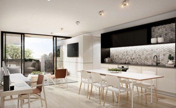 mẫu phòng khách thiết kế mở tuyệt đẹp cho căn hộ chung cư nhỏ 8