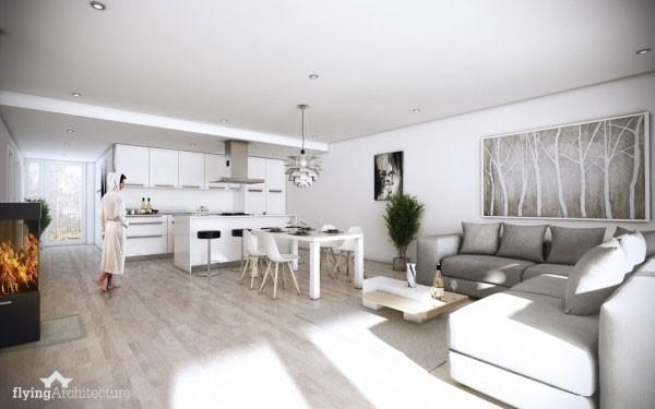 mẫu phòng khách thiết kế mở tuyệt đẹp cho căn hộ chung cư nhỏ 9