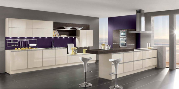 Những thiết kế bếp màu tím đẹp ngoài sức tưởng tượng 13