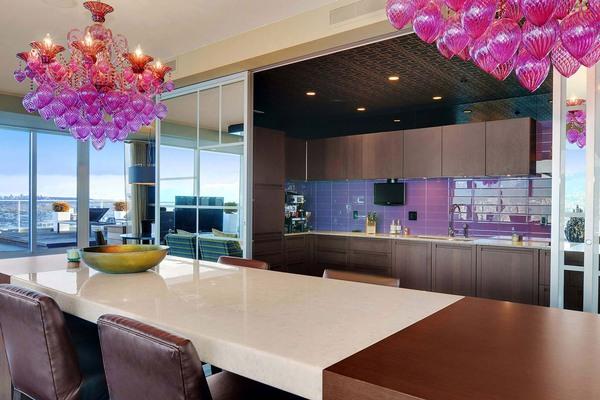 Những thiết kế bếp màu tím đẹp ngoài sức tưởng tượng 6