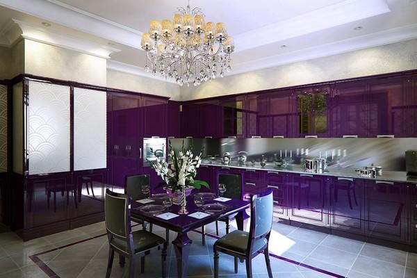 Những thiết kế bếp màu tím đẹp ngoài sức tưởng tượng 3