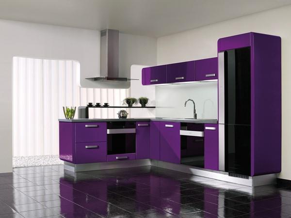 Những thiết kế bếp màu tím đẹp ngoài sức tưởng tượng 2