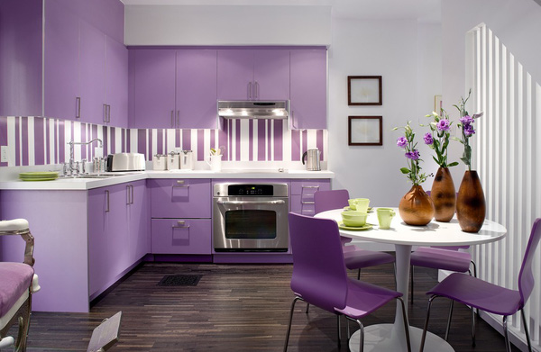 Những thiết kế bếp màu tím đẹp ngoài sức tưởng tượng 9