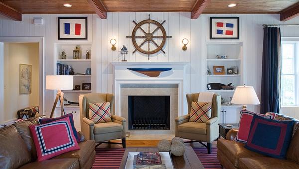 20 phòng khách theo phong cách hải quân xinh đẹp (Phần 1) 1