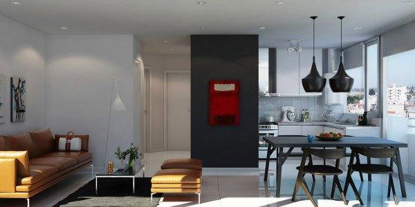 mẫu phòng khách thiết kế mở tuyệt đẹp cho căn hộ chung cư nhỏ 10
