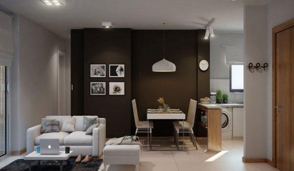 mẫu phòng khách thiết kế mở tuyệt đẹp cho căn hộ chung cư nhỏ 12