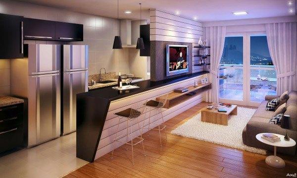mẫu phòng khách thiết kế mở tuyệt đẹp cho căn hộ chung cư nhỏ 3